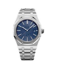 Reloj de papel digital online-12 colores reloj de lujo U1 de fábrica 41 mm ROYAL OAK 15400ST Reloj automático Caja de papeles Bisel de cerámica 2813 movimiento relojes para hombre