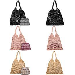 borse a mano in nylon Sconti Nuova borsa a mano tote per le donne Tote Bags tessitura spiaggia borse da donna per le ragazze fatte di nylon Trasporto di goccia di trasporto libero