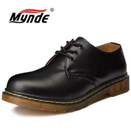 Мужская кожаная обувь ручной работы онлайн-Mynde  Mens Shoes Genuine Leather Handmade  Mens Oxfords Top Quality Casual Shoes Men Work Large Size Flats