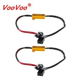 headlight harness Promo Codes - VooVoo LED Bulb Decoder Resistor Canbus Wire Harness Adapter 50w 6 8ohm 9-14V for H4 H7 H8 H9 H11 HB3 HB4 H13 Car Headlights