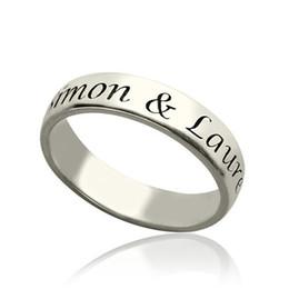 2020 paar ringe 7.5 Personized 925 Silber Verlobungsring Angepasst graviert Paar Name Ringe schmuck Für Hochzeitsgeschenk Für Mädchen # EW40 rabatt paar ringe 7.5