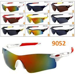 mirrors for bikes Promo Codes - Outdoors Sports activity Sunglasses For Running Riding Bicycle Mountain Bike Sun Glasses Single One Piece lens Half Frame Eyewear Sunglass