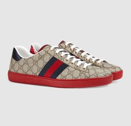 sapatos de condução desenhador Desconto Gucci Luxo sapatas do desenhador New Black Red inferior das mulheres dos homens Low-Top Casual Plano Outdoor Zapatillas Driving Sneakers