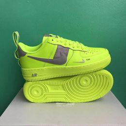 Argentina A2019 Nuevas llegadas Fuerzas Volt Zapatos para correr Mujeres Hombres Entrenadores Forced One Sports Skateboard Classic 1 Green White Black Warrior Sneakers Suministro