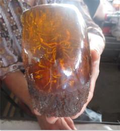 Antiquités asiatiques expédition gratuite en Ligne-Antiquités asiatiques vieille statue grand ambre de scorpion