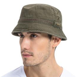 2020 boonie sombreros verde Cubo verde del ejército verano VOBOOM sombrero Hombres sólido simple de ala ancha de sarga de algodón Boonie Risita sombreros ojales casquillo de Sun 102 boonie sombreros verde baratos