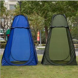 tendas de sala ao ar livre Desconto Ao ar livre Pop Up Barraca Camping Chuveiro Privacidade WC Changing Room Praia Portátil Dobrável Tenda 2 cores LJJK1152