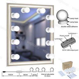 LED Duvar ışıkları Hollywood Tarzı Kiti ile 10 w Dim Ampul USB Makyaj Vanity Soyunma Odası için USB Powered Aydınlatma Armatürü Şeridi DHL nereden