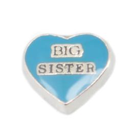 Сестра медальон онлайн-большая сестра Big Sister плавающие брелоки для живых стеклянных медальонов, H-60. Минимальная сумма заказа составляет 8 долларов США
