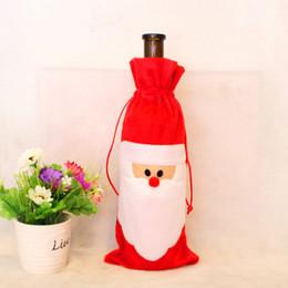 Nuovi sacchetti regalo di Babbo Natale Decorazioni natalizie Borse per bottiglia di vino rosso Borse Natale Borsa per vino di Champagne Regalo di Natale 31 * 12 cm da