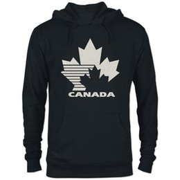 Canadian Canada Flag Maple Leaf Sport Outwear with Kanga Pocket Womens Casual Fleece Hoodies