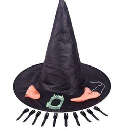 Cadılar bayramı Korkunç Parti Sahne Cadı Şapka Çene Burun Yanlış Diş Bulucu Karyolası Cadılar Bayramı Sahne Cosplay Perili Ev Süslemeleri nereden