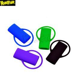 Isqueiros on-line-Cores Diferentes New Silicone Lighter Leash segura do esconderijo Clipe chaveiro Isqueiro seguro para Isqueiro Titular Acessórios fumadores
