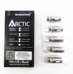 Horizonte, ártico, bobina, cabeça on-line-Liberação Atacado 100% original Horizon ártico clapton fio bobina 0.2ohm 0.5ohm bobinas de cabeça para horizontech ártico Top v2 atomizador Autêntico