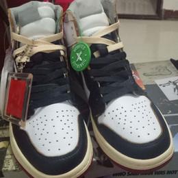 BİRLİK LA 1 YÜKSEK OG NRG Beyaz Varsity Kırmızı Kurt Gri Siyah basketbol ayakkabı En Kaliteli BV1300-146 erkekler Tasarımcılar spor ayakkabı size7 ~ 12 cheap shoes size7 nereden ayakkabı ebadı7 tedarikçiler