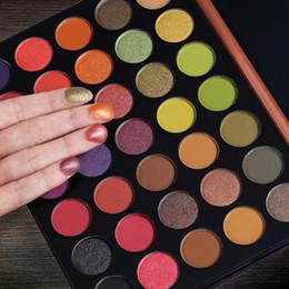 2019 paleta de sombra preta 35 Cor Paleta de Som De Sombra Glitter Highlighter Shimmer Make up Pigmento Colorido À Prova D 'Água Sombra de Olho Pallete