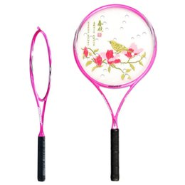 Deutschland Tai Chi Soft Force Schläger Tennisball Schläger Vollcarbon Badminton Soft Beat Ultra Licht Erwachsene Anti Skid Griff Blau Rosa 79sf C1 cheap pink tennis racket Versorgung