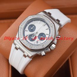 Relógio diamante japão on-line-Hot Reloj de lujo Lady designer 26231ST.ZZ.D010CA.01 OFFSHORE relógio de diamantes Japão movimento de quartzo A Tapisserie Dois tons azul relógios subdial