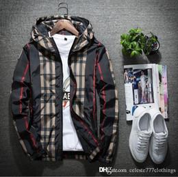Herren-jacke mit kapuze online-neue Herrenjacke dünnen Frühling lässig Reißverschluss Kapuze Mäntel Männer Hoodie Windjacke Jugend Street Style Trend Männer und Frauen sowohl Frühling Kleidung