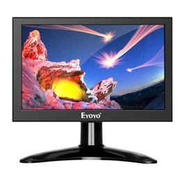 2019 pulgadas portátil lcd tv Eyoyo 7 pulgadas 1280x800 IPS Pantalla LCD IPS Monitor HDMI TV Portátil AV / HDMI / BNC / VGA Monitor Raspberry Pi de entrada pulgadas portátil lcd tv baratos