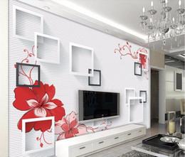 Cjsir personalizado Wallpaper Murais Quadro Fundo simples do ramo da flor de TV Sala Quarto Wallpaper Home Decor 3d de