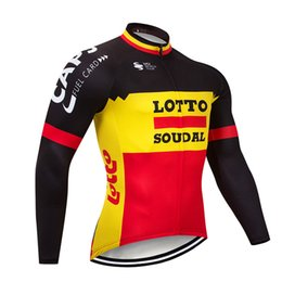 8709c8d8f Tour De France 2019 UCI LOTTO team mens Winter cycling jersey thermal  fleece bicycle tops ropa ciclismo invierno MTB bike jersey