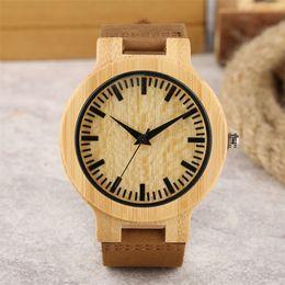 4ede06b2388a 2019 relojes de madera Moda Reloj de madera Reloj de pulsera de cuarzo para  hombre Marrón