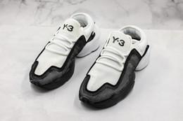 2019 y3 tênis de moda Y-3 Homens Sapatos Ren Kaiwa núcleo calçados Mens Running Shoes Para As Mulheres Moda Luxe Amarelo Preto Vermelho Y3 Formadores Tênis De Designer Tamanho 11 desconto y3 tênis de moda