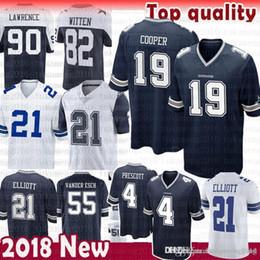 41b7b7b4 jersey cowboys 2019 - 19 Amari Cooper Dallas Jersey Cowboys 90 DeMarcus  Lawrence 4 Dak Prescott