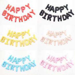 Vente chaude en gros Cadeau Fête D'anniversaire Ballons Joyeux Anniversaire Lettres Couleur Ballons 20sets / Pack pour Enfants Cadeau ? partir de fabricateur