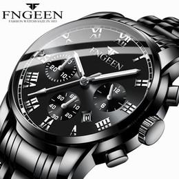 Veilleuse calendrier édition coréenne imperméable à la mode imiter trois yeux six aiguilles Sport Business Steel Steel Belt Watch ? partir de fabricateur