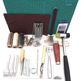 conjunto de punzones de cuero Rebajas 42pcs / Set Piel arte de costura ponche Kit de herramientas de corte costura talla de Trabajo