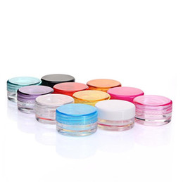 contenants de crème pour le visage Promotion Contenants de cire en plastique Jar Box Cases 3 ml et 5 ml capacité cosmétiques boîte 11 couleurs Face Cream Case Storage