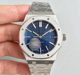Vente chaude Top Montre De Mode Pour Hommes Royal Oak Mouvement Automatique Cadran Bleu série mens watch15400 En Acier Inoxydable mens montres ? partir de fabricateur