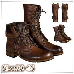 Коричневые всадники онлайн-бесплатная доставка коричневый цвет большой размер 38-48 прохладный человек модные мужские ботинки горячий мотоцикл всадник ботильоны 090