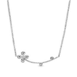 Подвеска с бриллиантовым клевером онлайн-Аутентичные Стерлингового Серебра 925 Ожерелье Оригинальная Коробка для Pandora CZ Diamond Clover Подвеска Женщины Свадебные Ожерелья наборы