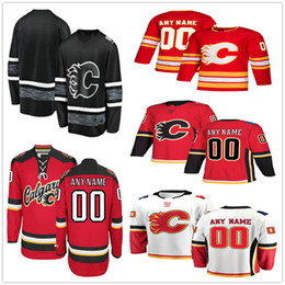 13 maillots d'élite en Ligne-Custom # 11 des Flames de Calgary Johnny Gaudreau 8 Juuso Valimaki 39 Doug Gilmour 28 Maillots de Hockey Hommes Femmes Elite