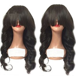 soft waves hair Coupons - Sweetheart Soft Glueless Lace Front Wigs 1b# Black Long Wavy Wigs for Women Natural Hairline Loose Wave Fiber Hair Cheap Wigs with Bangs