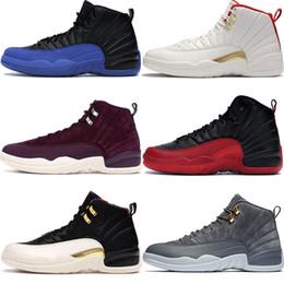 2019 nouvelles chaussures de basket design nike air jordan 12 nouvelles chaussures de basket-ball hommes royal jeu Noir CNY ailes jeu noir gris grippe design de luxe hommes chaussures nouvelles chaussures de basket design pas cher