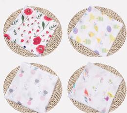 Patrón de mantas de bebé swaddle online-Impresión de patrón de muselina de algodón personalizada de empañar linda bebé de la manta de muselina mantas de bebé muselina bebé EEA597 manta