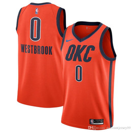Chemise de tonnerre en Ligne-T-Shirt O City Thunder Russell Westbrook # 0 Orange 2018/19 Swingman Édition gagnéeBasketball Maillots Gagné City Jersey Sports Outdoors