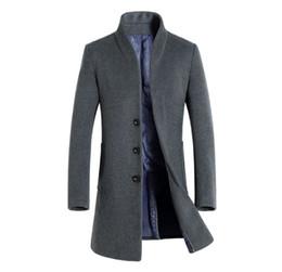 2020 koreanische graue männer langer mantel Mens Plus Size Long Blazer für Männer Übergroße Trenchcoat Korean Casual Blazer Blau Grau Rot Windjacke 4XL 5XL günstig koreanische graue männer langer mantel