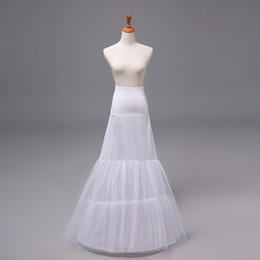 anáguas sexy Desconto 2020 Cheap Mermaid Petticoat Sexy nupcial vestido Prom Dress Crinoline Acessório underskirt White Wedding Undergarment Bustle 12008