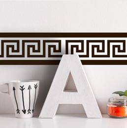 tapete für bad wände Rabatt Selbstklebende Tapetenränder, wasserdichte Küchen-Badezimmer-Wand-dekorative Grenzpapier-Aufkleber für lebendes Kinderzimmer 26 entwerfen