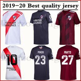 Prato do rio on-line-2019 20 Camiseta River Plate 70 anos de listras 19 20 MARTINEZ Futebol camisa Jerseys BORRE QUINTERO FERREIRA ÁLVAREZ PALACIOS Futebol