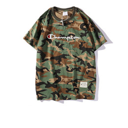 trendy shirts for men Promo Codes - Mens T-shirt 2019 Summer tshirts for Men Brand Clothes Fashion Camouflage Pattern Short Sleeve Trendy Street Style Wear Breathable Tees
