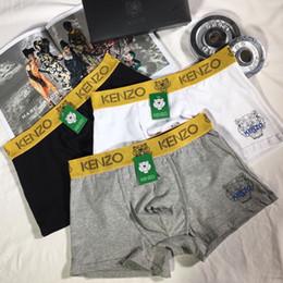 2019 roupa interior do estilo chinês Mens Sexy Marca Cueca 2019 Casual Verão Tiger cabeça de impressão Underwear Casual pugilistas Carta Shorts Sports Estilo Underwears.N02