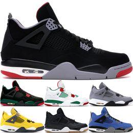 Wholesale 2020 Nueva Bred s IV Lo Las zapatillas de baloncesto para hombre de las alas láser mezclilla azul pálido Eminem Citron diseñador de los hombres zapatillas de deporte de Estados Unidos