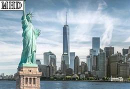 2019 крутые картины абстрактного искусства Полный квадрат дрель 5D diy Алмаз живопись Нью-Йорк пейзаж 3d алмазная мозаика свобода богиня значок ручной работы искусства