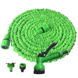 water garden pipe spray Coupons - Hot Selling 25FT-100FT Garden Hose Expandable Magic Flexible Water Hose EU Hose Plastic Rubber Hoses Pipe With Spray Gun To Watering